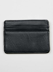 Topman Black Faux Leather Card Holder