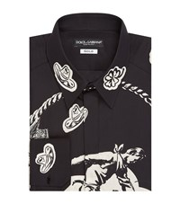 Dolce And Gabbana Old West Print Shirt Male Black