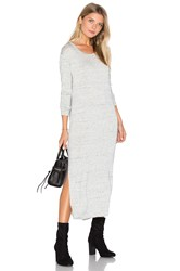 Bella Dahl Side Slit Long Sleeve Dress Gray