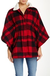 Jolt Fleece Collar Poncho Black