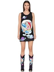 Jeremy Scott Ren And Stimpy Printed Techno Cady Dress