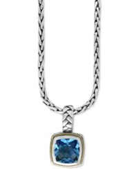 Effy Collection Balissima By Effy Blue Topaz 4 2 3 Ct. T.W. Pendant Necklace In 18K Gold And Sterling Silver