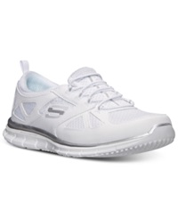 Skechers Women's Glider Lynx Memory Foam Casual Sneakers From Finish Line White White
