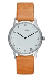 Pilgrim Watch Silvercoloured Brown