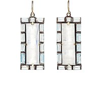 Nak Armstrong Women's Rainbow Moonstone And Aquamarine Drop Earrings No Color
