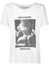 Enfants Riches Deprimes Nothing Special Print T Shirt White