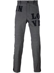 Dolce And Gabbana In Love Patch Trousers Grey
