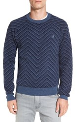 Original Penguin Men's Lambswool Zigzag Raglan Crewneck Sweater