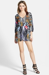 Minkpink 'Midnight Oracle' Button Front Romper Multi
