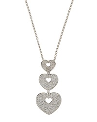 Poiray Triple Heart Pendant Necklace With Diamonds