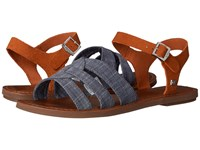 Toms Zoe Sandal Chambray Brown Suede Women's Sandals