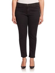 Marina Rinaldi Plus Size Town Solid Skinny Ankle Jeans Black