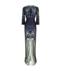 Maria Grachvogel Evelyn Printed Silk Gown Navy