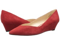 Nine West Elenta Red Suede Women's Wedge Shoes