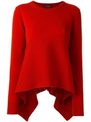Alexander Mcqueen Loose Fit Jumper Red