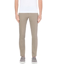 Tiger Of Sweden Herris Slim Fit Tapered Stretch Cotton Trousers Beige