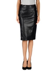 Only Knee Length Skirts Black