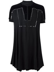 Diesel Black Gold Studded Eyelet Detail Dress Black