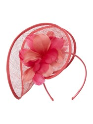 Linea Lulu Twist Fascinator Coral