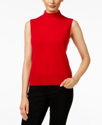 Charter Club Cashmere Mock Turtleneck Shell Only At Macy's New Red Amore