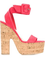 Brian Atwood 'Iniko' Sandals Red