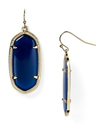 Kendra Scott Elle Earrings Navy Cats Eye