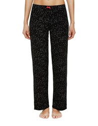 Ellen Tracy Printed Pants Black Dot