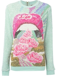 Manish Arora Sequin Embellished Sweater Blue