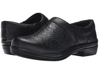 Klogs Usa Mission Black Tooled Women's Clog Shoes