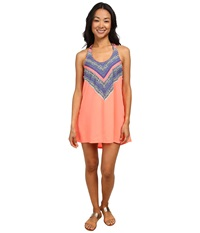 Rip Curl Gypsy Queen Cover Up Hot Coral Women's Swimwear Red