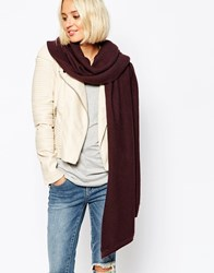 Pieces Ribbed Oversized Blanket Scarf Fudge