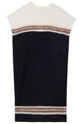 3.1 Phillip Lim Shift Dress W Embroidery
