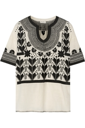 Suno Embroidered Cotton Top