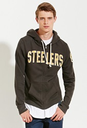 Forever 21 Junk Food Nfl Pittsburgh Steelers Hoodie Black Yellow
