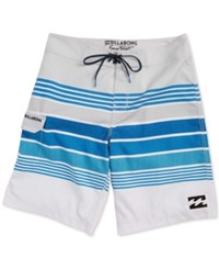 Billabong Men's All Day X Stripe Boardshorts Silver