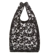 Balenciaga Lace Shopper Black