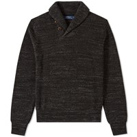 Polo Ralph Lauren Williamsburg Shawl Neck Knit Grey