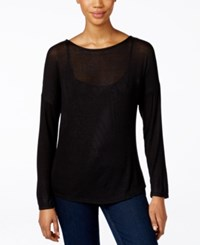 Inc International Concepts Dolman Long Sleeve Boat Neck Top Only At Macy's