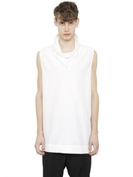 Rick Owens Sleeveless Cotton And Silk Poplin Shirt