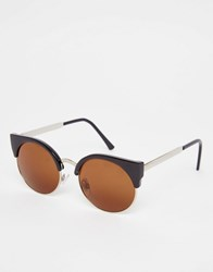 Monki Cateye Sunglasses Black