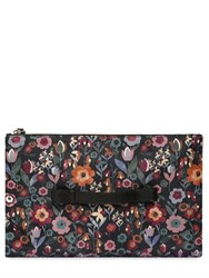 Red Valentino Floral Printed Nylon Pouch