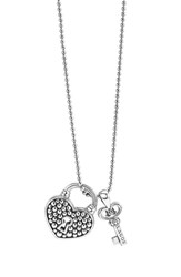 Women's Lagos 'Beloved' Heart Lock And Key Pendant Necklace