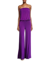 Young Fabulous And Broke Sydney Strapless Jumpsuit Amethyst
