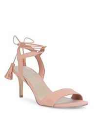 424 Fifth Giovanna Suede Sandals Natural