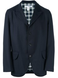 Comme Des Garcons Shirt Boy Three Button Blazer Blue