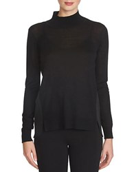 1.State Mixed Media Turtleneck Sweater Black