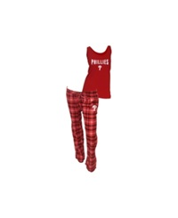 Concepts Sport College Concepts Women's Philadelphia Phillies Tank And Pajama Pants Set Red Black