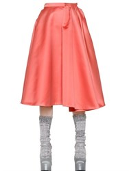 Rochas Duchesse Skirt With Pleated Section