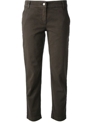 Dolce And Gabbana Cropped Jean Brown