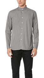 Marc Jacobs Micro Stripe Mandarin Collar Shirt Night Combo